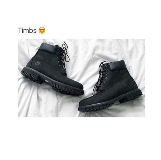 shoes, timberlands, black, matte, boots