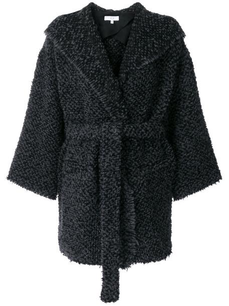 Iro coat women cotton black wool