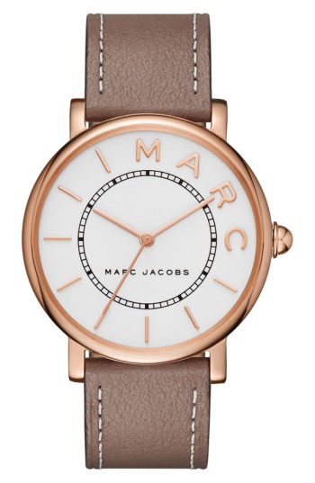 Marc Jacobs Roxy Leather Strap Watch, 36mm | Nordstrom