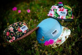 hat snapback floral cap 5panel five panel bucket hat fashion tropical