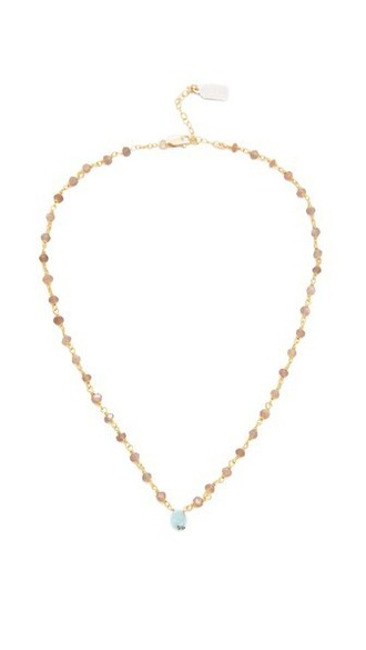 necklace gold brown jewels