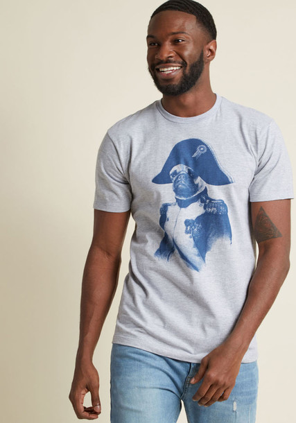 2987M t-shirt shirt graphic tee t-shirt style animal fit cotton grey top