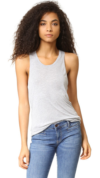 Zoe Karssen Loose Racer Back Tank - Grey Heather
