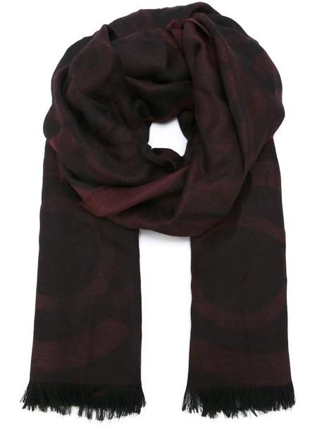Salvatore Ferragamo jacquard scarf purple pink