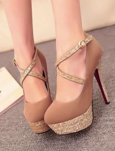 princess sparkle high heels nude glitter glitter shoes glitter heels glitter heel shoes glitter heels.nightclub heels glitters golden heels golden shoes sparkly strappy heels t strap nude high heels