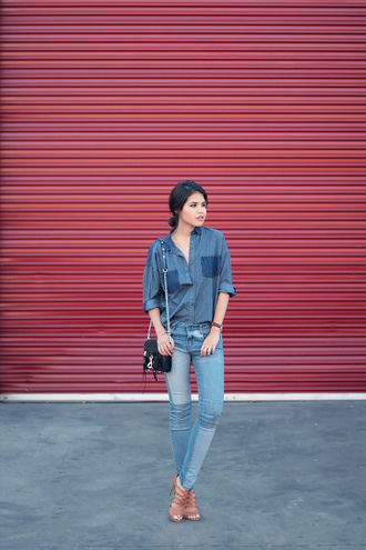 fake leather shirt jeans jewels shoes