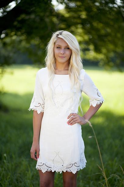 Similiar Short White Lace Country Dress Keywords