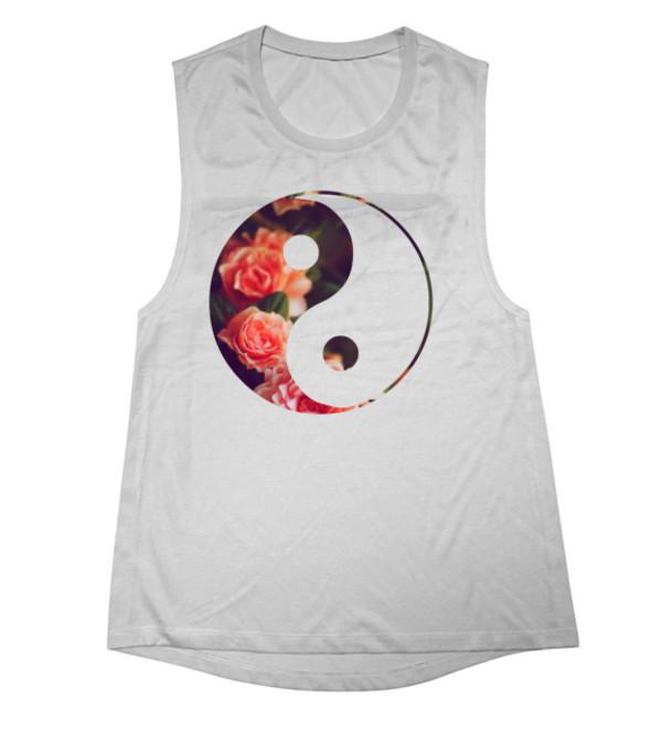 a13c4e00bf42 tank top yin yang yin yang shirt yin yang top rose rose yin yang top cute.