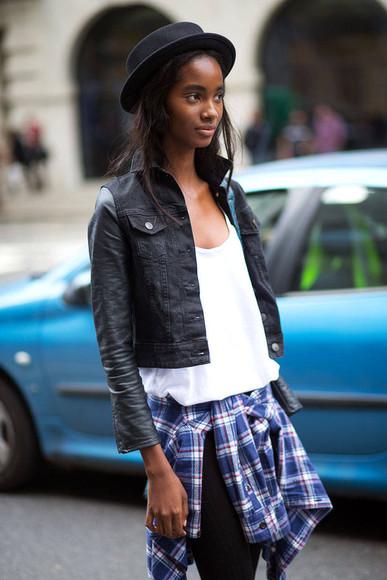 streetstyle fashion week 2014 jacket shirt