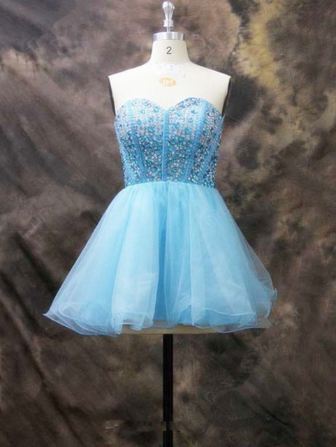 Aliexpress.com : Buy Sweetheart Short Prom Dresses YL3698 Beading ...