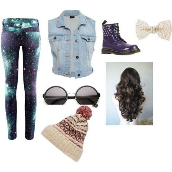 galaxy pants galaxy leggings denim