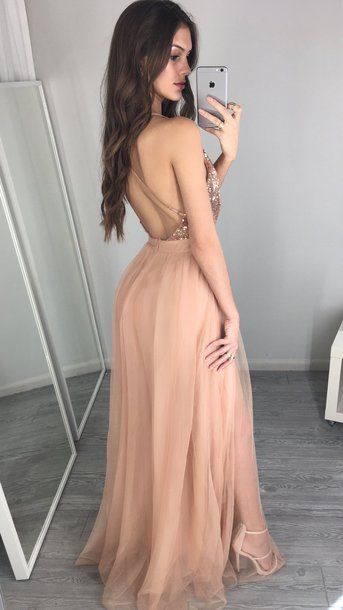 20aad219 dress deep v v neck dress v neck prom dress long dress long prom dress  pleated pleated