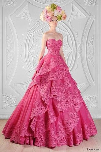 dress pink dress lace dress long dress strapless dresses