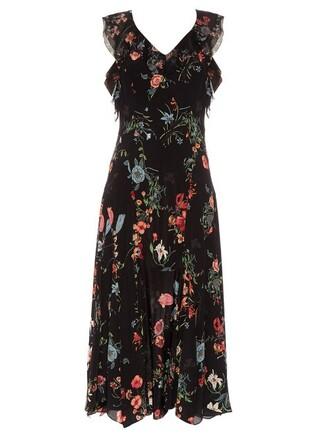 dress sleeveless floral print black