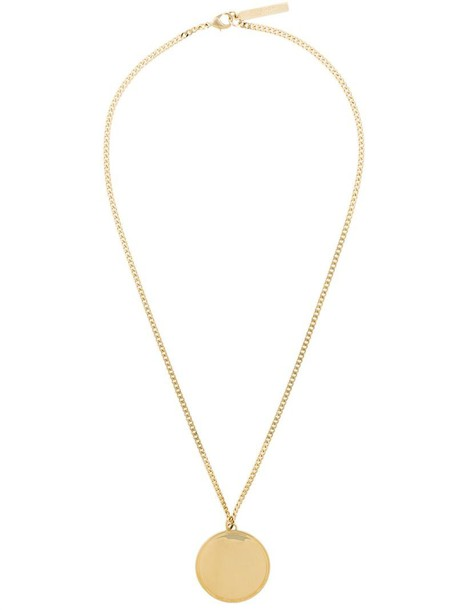 Givenchy metal women necklace pendant grey metallic jewels