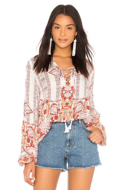 Somedays Lovin blouse sun pink top