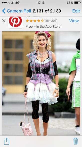 underwear 80sstyle 80s dress madonna basque carrie bradshaw tulle skirt