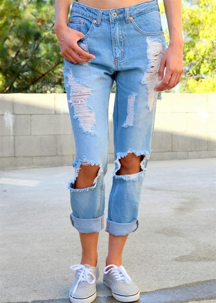 Jeans: ripped jeans, ripped, ripped jeans, distressed denim ...
