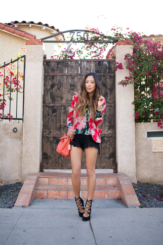 song of style jacket shoes jewels shorts shirt