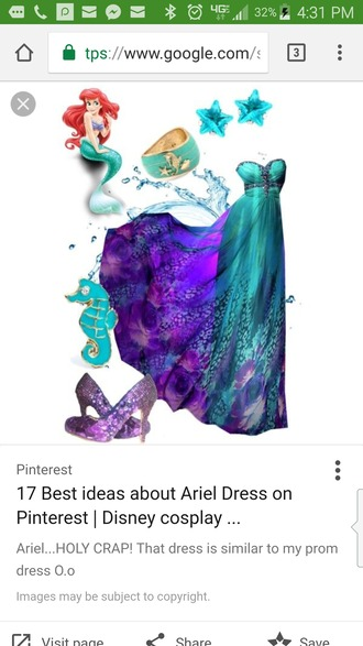 Little Mermaid Prom Dress