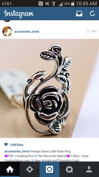 rose hair accessories ring
