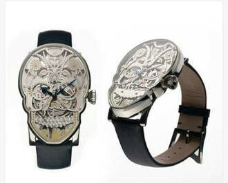 jewels watch skull hipster