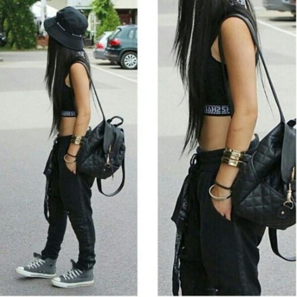 shirt hat bag pants top joggers sweatpants leggings converse urban