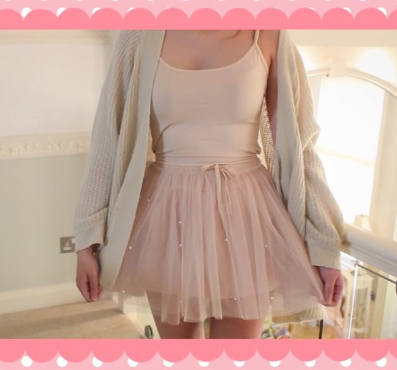 ballerina dress skirt girly vintage cream cardigan dusty pink cool grunge grunge marziapie dresses denim skirt