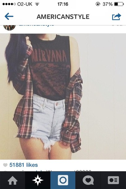 shirt nirvana shorts