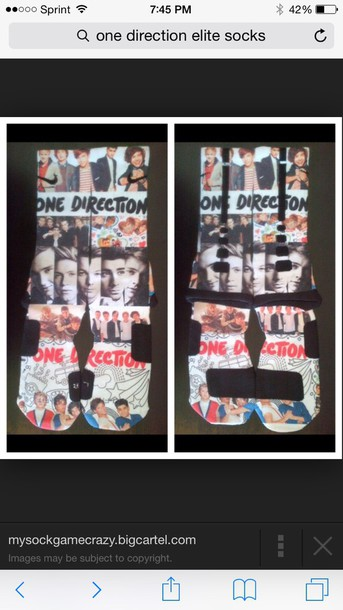 socks one direction nike elite  socks