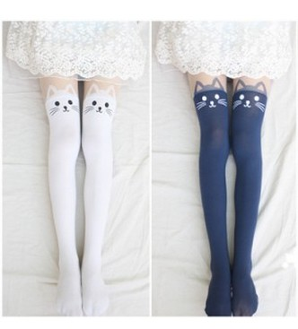 Cut Uk Tights For Girlfriend Gift New Fall 2013 Cat Tattoo Tights Fashion Tights on Luulla