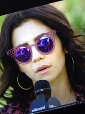 sunglasses,purple,marinaandthediamonds