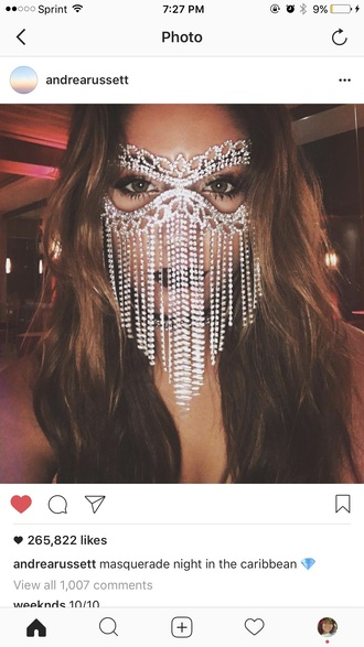 make-up mask diamonds masquerade mask andrea russett