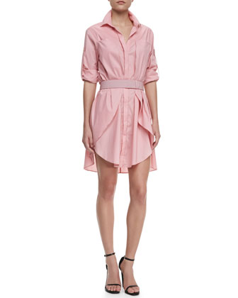 Halston Heritage Long-Sleeve Voile Shirtdress (Stylist Pick!)