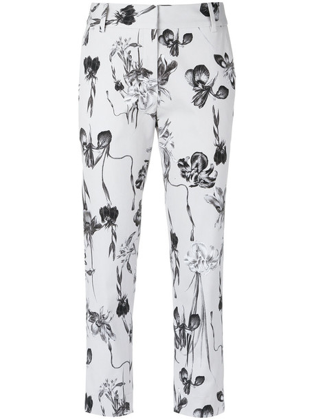 cropped women spandex floral cotton pants