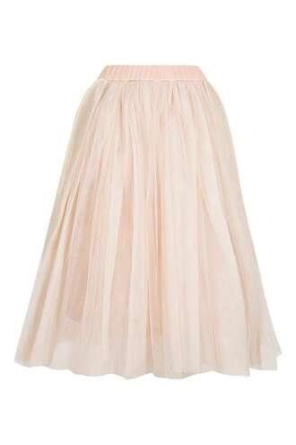 skirt tutu pink skirt tulle skirt topshop midi skirt girly dusty pink