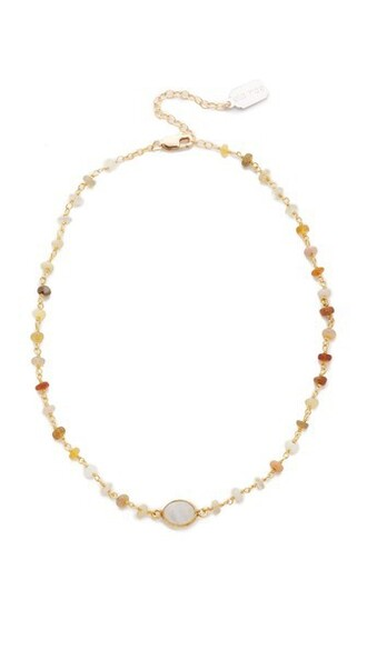 opal necklace choker necklace gold jewels