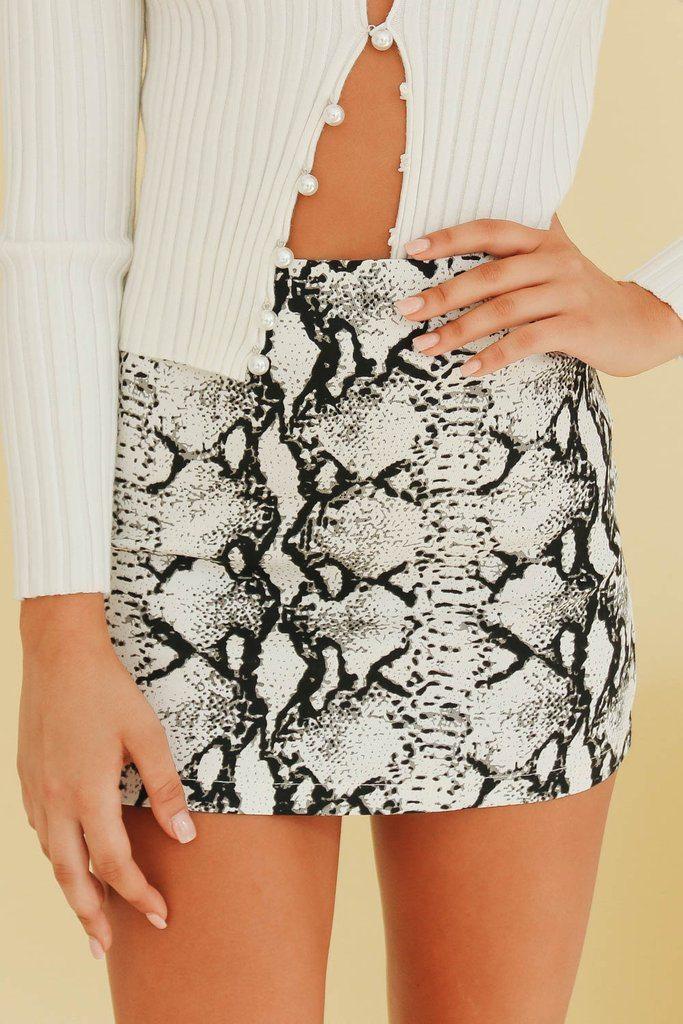 Fearless Approach Mini Skirt // Snake