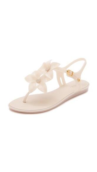 milk sandals white shoes
