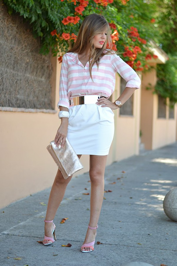 mi aventura con la moda skirt bag shoes belt shirt