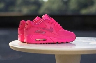 shoes air max neon neon pink nike sneakers nike pink pink shoes neon pink airmax 90