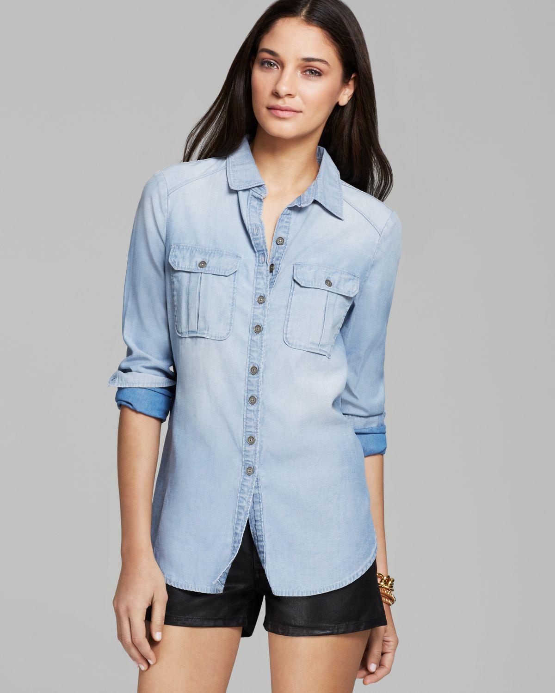 Paige Denim Shirt - Aria Denim | Bloomingdale's