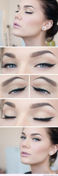 make-up linda hallberg black silver eyeline eyelines eyeliner prom beauty