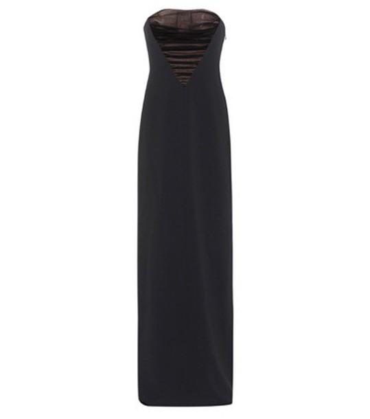 Alexander Wang gown strapless black dress