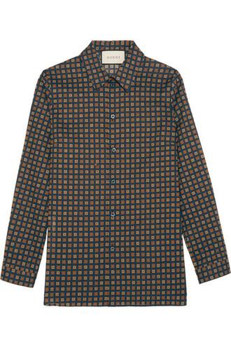 shirt navy cotton top