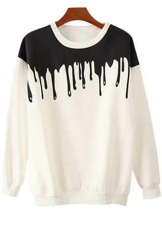 sweater zaful dip dyed ombre chic hippie fashion hipster cool
