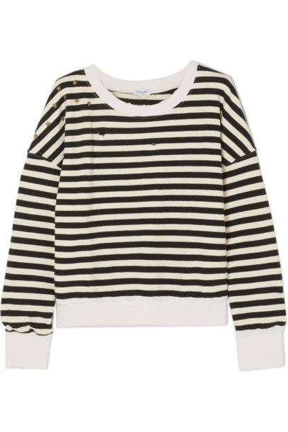 Splendid sweatshirt embellished cotton black sweater