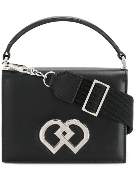 Dsquared2 mini women bag shoulder bag leather cotton black
