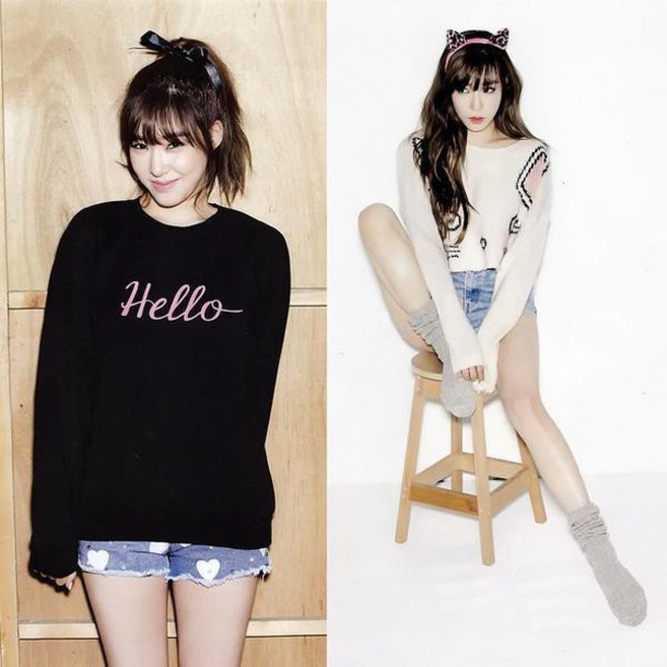 Sweater tiffany snsd fashion ulzzang style kpop outfit girl - Wheretoget