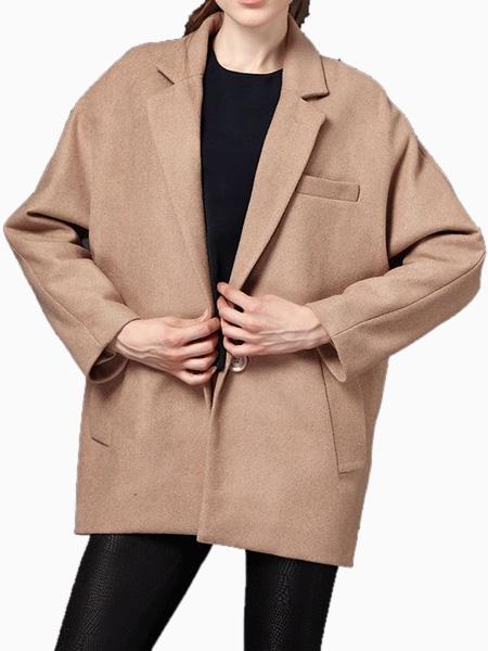 Oversize blazer coat in brown